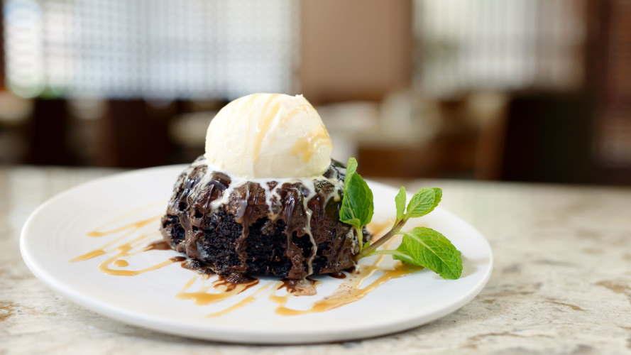 Warm Chocolate Molten Cake a la Mode